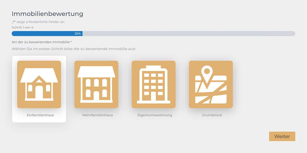 Online Formular Konfigurator Multistep
